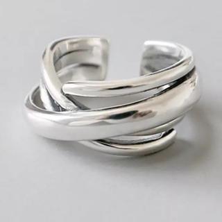 トゥデイフル(TODAYFUL)のシルバーリング 指輪 クロスデザイン オープンリング 新品(リング(指輪))