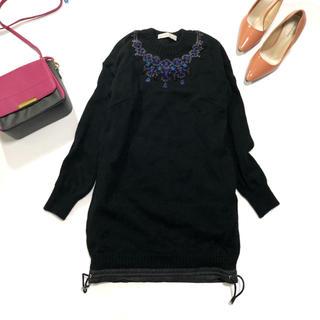 サカイラック(sacai luck)のサカイラック/ニット セーター ビジュー  刺繍 ウール100%(ニット/セーター)