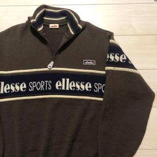 ellesse - 90's ellesse sports ハーフジップ ウール ニット セーター