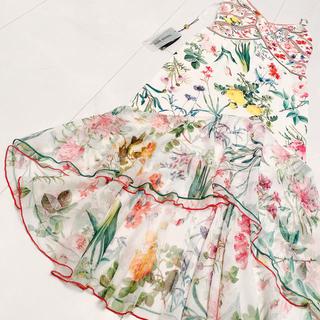 タダシショウジ(TADASHI SHOJI)のTADASHI SHOJI ボタニカル マキシワンピース ロングドレス フラワー(ロングドレス)