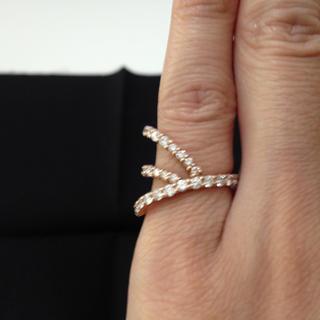 K18PG ダイヤモンドピンキーリング(リング(指輪))