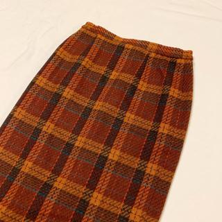 ロキエ(Lochie)のvintage チェック柄のレトロスカート(ひざ丈スカート)
