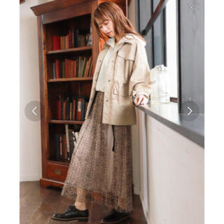 ミスティウーマン(mysty woman)のレオパード スカート(ひざ丈スカート)