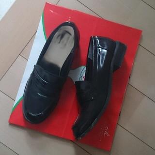 ブラックローファー(ローファー/革靴)