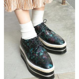 ジュエティ(jouetie)の【お値下げ】jouetie ジュードソールウィングチップ(ローファー/革靴)