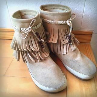 シェル(Cher)のcher購入♡minia フリンジブーツ(ブーツ)