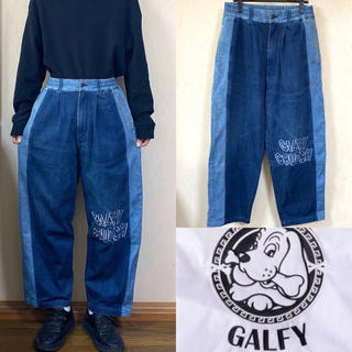 ガルフィー(GALFY)の90's GALFY ガルフィー デニム ペインターパンツ ワイドパンツ(ペインターパンツ)