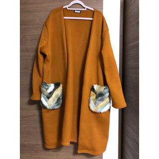 アナップ(ANAP)のANAP ファーポケットコート(毛皮/ファーコート)