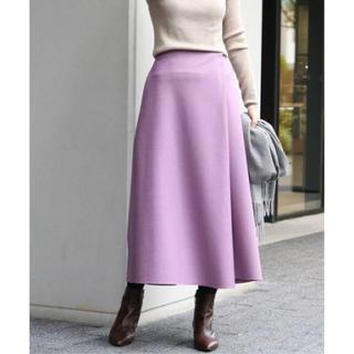 イエナ(IENA)のIENA 2019AW ハード圧縮スカート 36 パープル(ロングスカート)