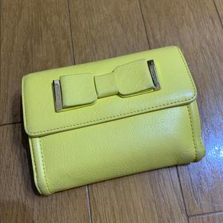 バーバリーブルーレーベル(BURBERRY BLUE LABEL)のブルーレーベルクレストブリッジ 黄色のお財布 used(財布)