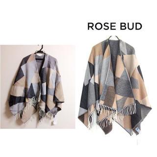 ROSE BUD - ROSE BUD カラーブロッキングポンチョ