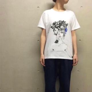 YOICHIRO Tシャツ XSサイズ グラフィック L&P柄 ホワイト(Tシャツ(半袖/袖なし))