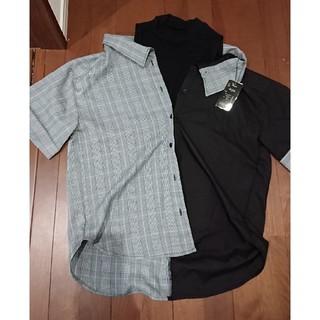 アベイル(Avail)の切り替えレイヤーシャツ☆オフショルダー(シャツ/ブラウス(半袖/袖なし))