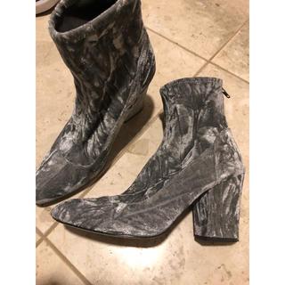 シールームリン(SeaRoomlynn)のNINE WEST ショートブーツ ベロア ブーツ グレー(ブーツ)