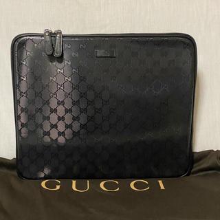 Gucci - 美品 本物 正規品 GUCCI メンズ レザー クラッチバッグ インプリメ 黒