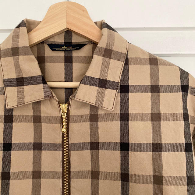 JOURNAL STANDARD(ジャーナルスタンダード)のrelume チェック柄 ブルゾン メンズのジャケット/アウター(ブルゾン)の商品写真