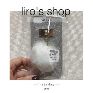 ウィゴー(WEGO)のWEGO♡ ポンポン付きラメiPhone6/6s/7ケース(iPhoneケース)