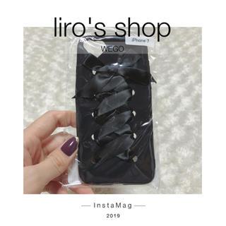 ウィゴー(WEGO)のWEGO♡ レースアップiPhone7ケース(iPhoneケース)