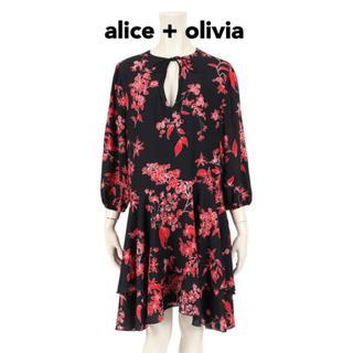 アリスアンドオリビア(Alice+Olivia)のアリスアンドオリビア  花柄 ワンピース フリルワンピース リボン(ひざ丈ワンピース)