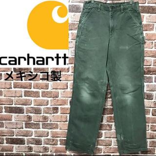 カーハート(carhartt)の【激レアcarhartt ペインターパンツ W34 ダブルニーモスグリーンダック(ワークパンツ/カーゴパンツ)