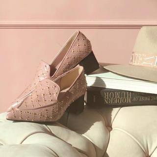 エイミーイストワール(eimy istoire)の新品eimy istoireスタッズローファー♡エイミーイストワールdarich(ローファー/革靴)