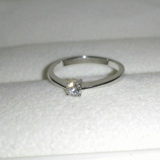 K18 一粒ダイヤ 0.1ct リング(9号)(リング(指輪))