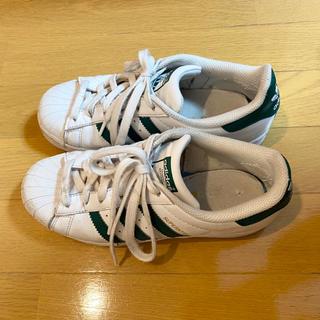 アディダス(adidas)のadidas スーパースター 22.5cm グリーン(スニーカー)
