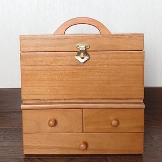 土日限定価格‼️木製 メイクボックス   未使用(メイクボックス)
