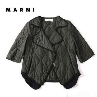 マルニ(Marni)のMARNI キルティングジャケット(ミリタリージャケット)