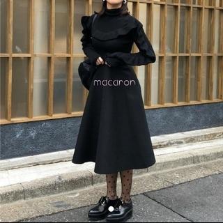 birthdaybashウールスカート黒🍋バースデーバッシュAラインスカート黒(ロングスカート)