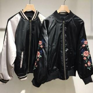 ダブルクローゼット(w closet)のw closet 袖刺繍リバーシブルスカジャン(スカジャン)