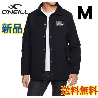 オニール(O'NEILL)の【新品】オニール  シンプル ロゴ コーチジャケット ブラック 黒 M(ナイロンジャケット)