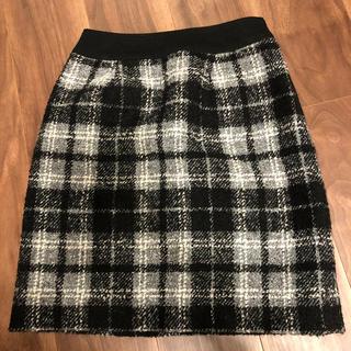 クイーンズコート(QUEENS COURT)のクイーンズコート ツイードスカート 7号サイズ(ミニスカート)
