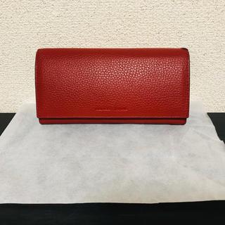 ナンバーナイン(NUMBER (N)INE)のNUMBER (N)INE ナンバーナイン 二つ折り財布 イタリア 財布 レッド(長財布)