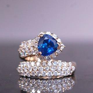 ポンテヴェキオ(PonteVecchio)のポンテヴェキオ PV ブルーサファイヤ ダイヤモンド リング 指輪 K18 YG(リング(指輪))