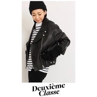 ドゥーズィエムクラス(DEUXIEME CLASSE)のダンゴムシ様専用♡新品♡ドゥーズィエムクラス♡PANレザーライダースジャケット(ライダースジャケット)