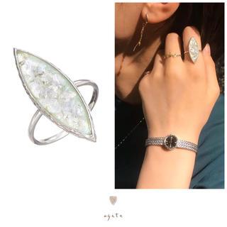 アガット(agete)の【19日限定お値下げ】agete♡ローマンガラスSVリング♡アガット(リング(指輪))