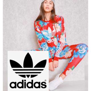 adidas - アディダス adidas 花柄 上下 セットアップ トレーナー SM ジャージ