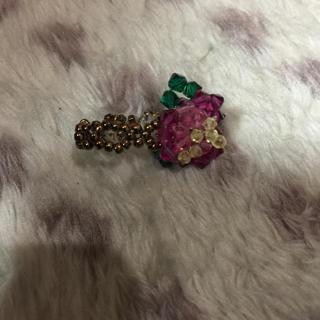 ビーズ指輪 薔薇(リング(指輪))