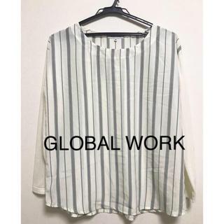 グローバルワーク(GLOBAL WORK)のGLOBAL WORK ストライププルオーバー(カットソー(長袖/七分))