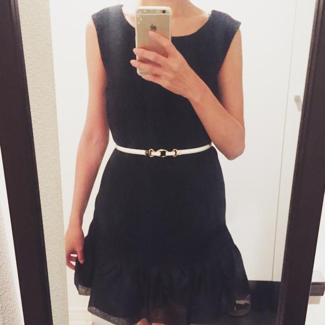 エナメルベルト☆ホワイト×ゴールド レディースのファッション小物(ベルト)の商品写真