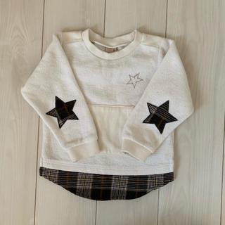プティマイン(petit main)のプティマイン  星 チェック トレーナー(Tシャツ/カットソー)