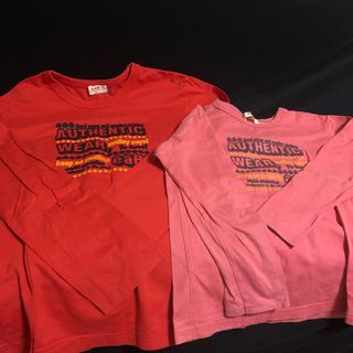 エーアーベー(eaB)のe.a.B 赤 ピンク 長袖 セット キッズ用(Tシャツ/カットソー)