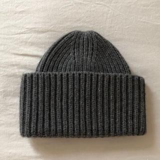 ドゥロワー(Drawer)のDrawerドゥロワー カシミア混ニット帽/グレー(ニット帽/ビーニー)