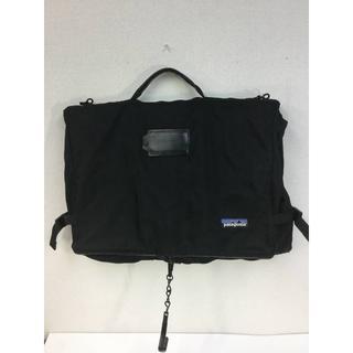 パタゴニア(patagonia)の90s USA製 パタゴニア PATAGONIA 三つ折りスーツバッグ ブラック(ビジネスバッグ)