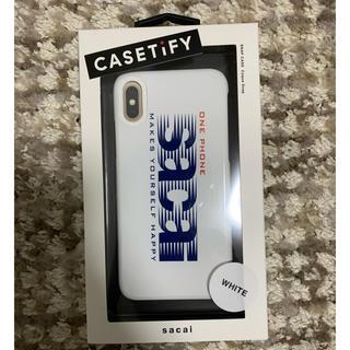 サカイ(sacai)のsacai × casetify iphone x/xs 対応ケース 白(iPhoneケース)