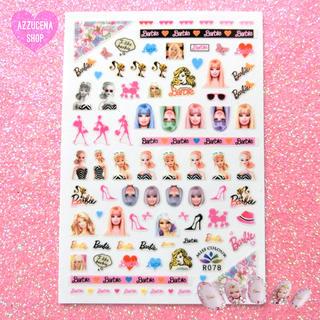 Barbie - Fancy Barbie nail stiker 🎀