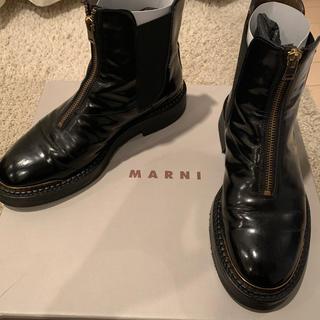 マルニ(Marni)のmarni マルニ センタージップサイドゴアブーツ 箱付き(ブーツ)