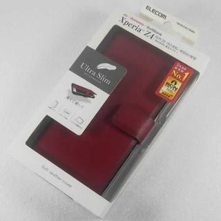 エレコム(ELECOM)のXperiaZ4 SO-03G SOV31 402SO 手帳型 ケース レッド(Androidケース)