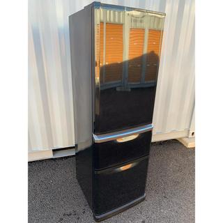 三菱 - MITSUBISHI 冷凍冷蔵庫 自動製氷付 ブラック 370L レア人気左開き